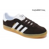 Café Blanc Marron Adidas Originals Gazelle Homme Indoor Chaussures