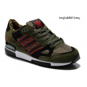 Camouflage Army Green Noir Rouge Adidas Originals ZX 750 Homme Chaussures de course