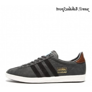 Carbon Noir Marron Gold Metallic Adidas Originals Gazelle OG Chaussures Homme