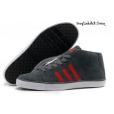 Charbon Rouge Blanc Adidas Homme Vlneo Bball Mid Lifestyle Chaussures