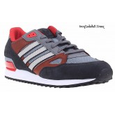 Charcoal Slategray Marron Rouge Blanc Adidas Originals ZX 750 Homme Chaussures de course