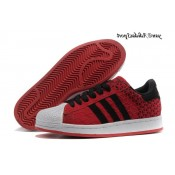Darkred Noir Blanc Adidas Originals Superstar 2 Chaussures Homme Suede
