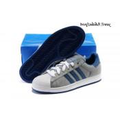 Gris Blanc Bleu Denim Adidas Originals Superstar II Lovers flanelle Chaussures