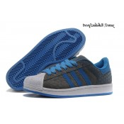 Gris Steelblue Blanc Adidas Originals Superstar 2 Chaussures Homme Suede
