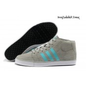 Gris Turquoise Blanc Adidas Homme Vlneo Bball Mid Souliers chaudes