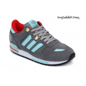 Gris anthracite rouge turquoise Adidas Originals ZX 700 Chaussures Homme