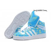 Jade Blanc Vert pale Adidas Originals Jeremy Scott Big Tongue Glow The Dark Glossy HI