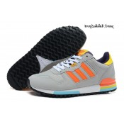 Lightgrey Orangered Yellow Deep Purple Adidas Originals ZX 700 Homme formateurs