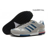 Lightgrey Steelblue Blanc Adidas Originals ZX 750 Homme Chaussures de course