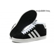 Noir Blanc Adidas Neo Homme Bbneo ST Souliers Daily Warm