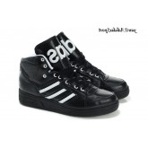 Noir Blanc Adidas Originals by Jeremy Scott Instinct hautes chaussures