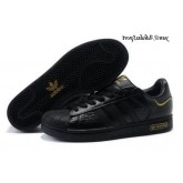 Noir Gold Adidas Originals Superstar 25 Femme formateurs