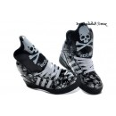Noir Lightgreen Adidas Originals Jeremy Scott Dark Knight Skull Glow The Dark