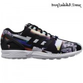 Noir True Blue Adidas Originals ZX Flux Homme formateurs