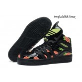 Noir Vert pale Lightcoral Pivoine Adidas Originals Jeremy Scott Big Tongue Glow The Dark