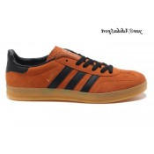 Orangered Noir Marron Adidas Originals Gazelle Homme Indoor Chaussures