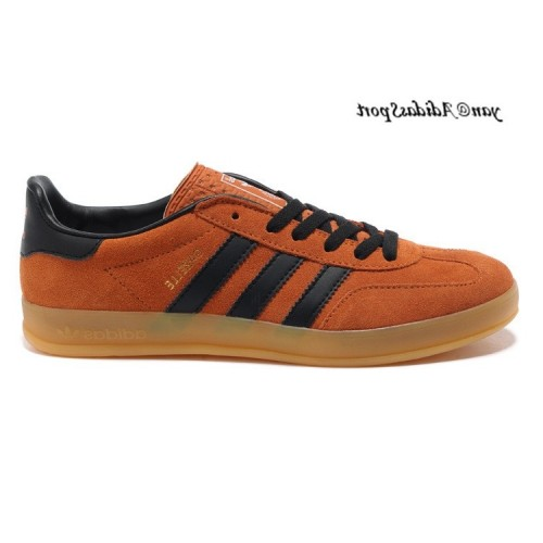 Orangered Noir Marron Adidas Originals Gazelle Homme Indoor