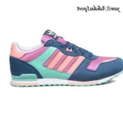 Orchid Bleu marine Saumon Turquoise Chaussures Adidas Originals Zx 700 Femme