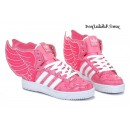 Rose Blanc Glow Femme Adidas Originals by Jeremy Scott Ailes