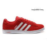 Rouge Blanc Adidas NEO Derby Suede Chaussures Homme