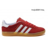Rouge Blanc Marron Adidas Originals Gazelle Homme Indoor Chaussures