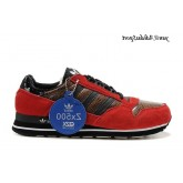 Rouge Noir Marron Serpentine Adidas Originals ZX 500 Homme formateurs