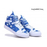 Royalblue Blanc Adidas Originals Jeremy Scott grosse langue Etoiles Glow The Dark