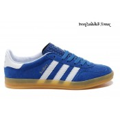 Royalblue Blanc Marron Adidas Originals Gazelle Homme Indoor Chaussures