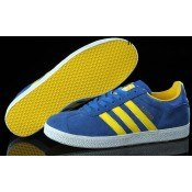 Royalblue Jaune Blanc Adidas Originals Gazelle Chaussures Homme