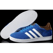Royalblue Marron Blanc Adidas Originals Gazelle Chaussures Homme