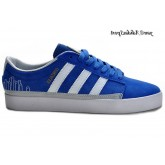 Royalblue blanc Silver Metallic Gold Adidas Originals Rayado Faible Chaussures