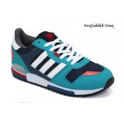 Teal Bleu marine Blanc Rouge Adidas Originals ZX 700 Lovers Chaussures