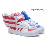 USA Flag Blanc Bleu Rouge Jeremy Scott Adidas Originals X JS Wings de 2.0
