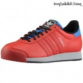 Université Bleu Rouge Air Force Adidas Originals Samoa Homme Retro Lifestyle Chaussures en cuir