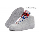 Whiate satellite Scarlet Adidas Jeremy Scott Instinct Salut Union Jack Chaussures